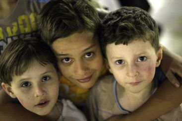 Syrian children are seen here in the Great Mosque of Aleppo, Syria, on Sept. 15, 2010, a few months before the Syria civil war started. Photo by Yeaowatzup