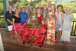 The Friends of King Kaumuali'i unveiled the king's statue at an event at artist Saim Caglayan's home in Kalihiwai Aug. 29.