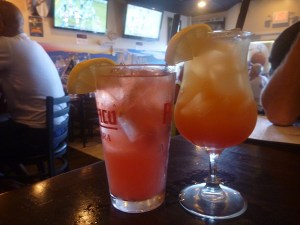 The Tone-Loc, a very adult muddled strawberry lemonade, and the Kaua'i King, white rum, pineapple and grenadine. Both go down pretty easily.