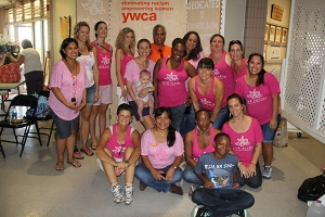 Staff and volunteers at YWCA who put together last year's Pink Sunday.