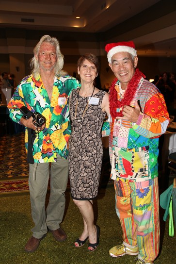Bruce Smalling, left, Paula Galleron and Dickie Chang