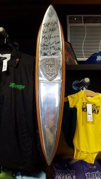 Bruce Irons' competitor plaque for the Eddie Aikau