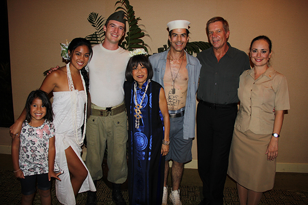 The cast of South Pacific