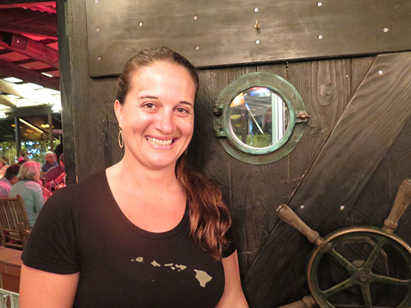 Manager Morgan Duran says The Dolphin Restaurant has been expanding for more than 30 years. The Po'ipu location, at the shops at Kukui'ula, has all the same elements as the original Hanalei place.