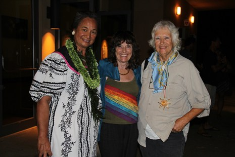 Left to right, Sabra Kauka, Penny Prior and Sylvia Partridge