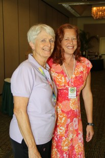 Committee chair Virginia Beck, left, and state commission representative Lisa Ellen Smith