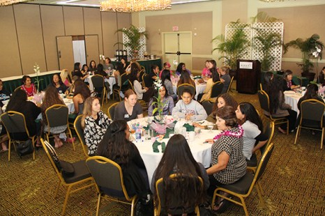 Forty eight high school girls met with inspiring women mentors for an afternoon of fun and sharing experiences at Kaua'i Beach Resort.