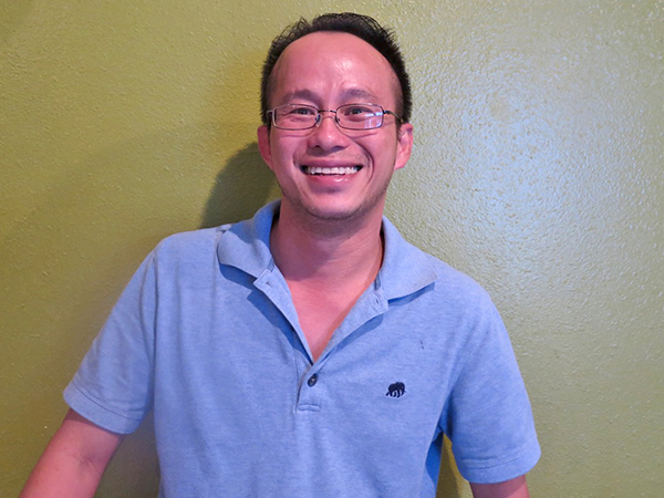 Thomas Chau, pictured here, with his brother, Kenny Ton, have created a warm and inviting Pho place where they aim for healthy food and treating customers like 'ohana.