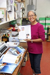Felipa Newhouse, of the bindery department.