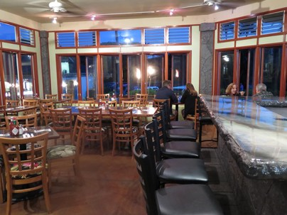 The bar area in the Po'ipū Olympic Cafe.