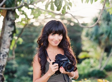Blenda Montoro uses real film in her wedding photography business. Contributed photo