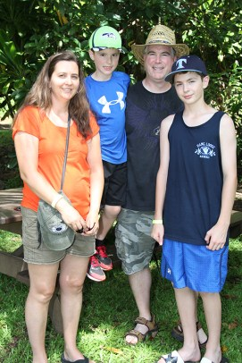 The Drever family, from left to right, Kathy, Eric, Ryan and Aaron, of Seattle