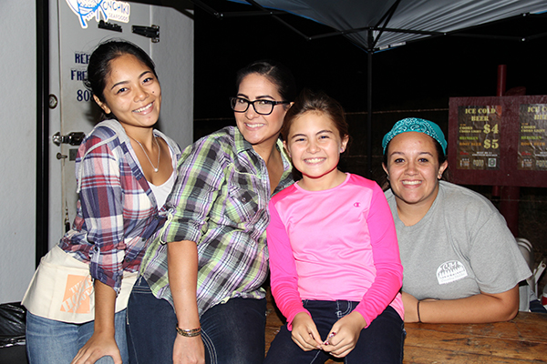 From left to right, Nissa Raposas, Che Weaver and daughter Kirra Weaver, and Johanna Gulla
