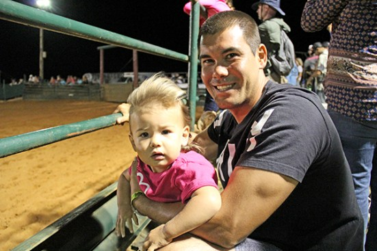 Kelly Foster with his girl, Uluwehi Foster