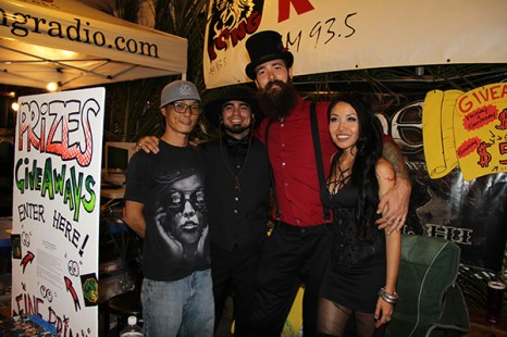 Farsyde Tattoo, left to right, Brandon Yama, Arturo Luna, Jarod Powell and Kelsy Naka