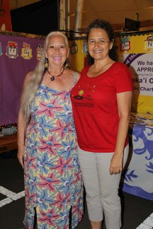 Dr. B. Blackwell, left, and Felicia Cowden, of Alaka'i o Kaua'i Public Charter School