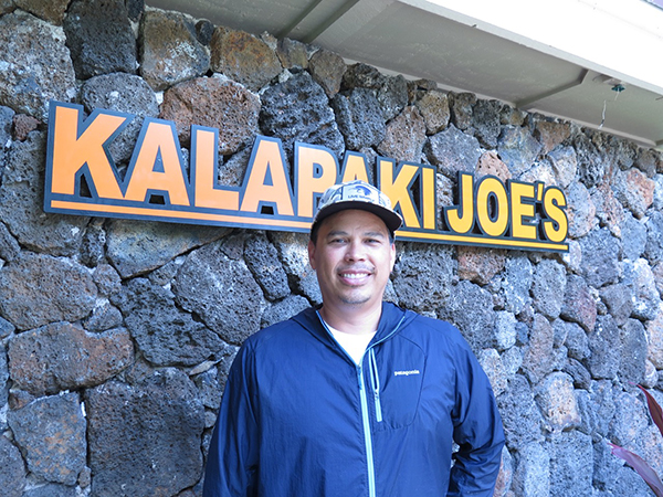 Jody Valente of Kalapaki Joe's, opened in 2008, still going strong at both their Po'ipū and Kukui Grove locations.