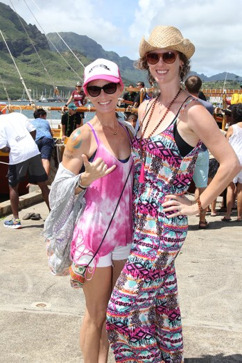 Sandi O'Shaugnessy, left, and Angela Babcock