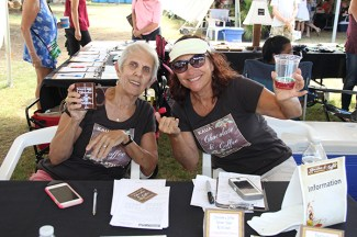 Judy Page, left, and Debbie Gia