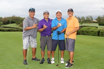 Left to right, Roger Honjo, Noel Udaundo, Mark Chinen and Teo Serrano, during last year's tournament.