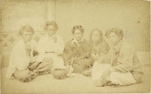 Hawaiians eating poi, circa 1870. Photo by Menzies Dickson/National Library of New Zealand