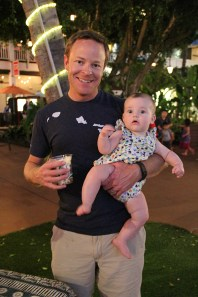 Chris Atherton, of San Jose, Calif., with daughter Emily Atherton