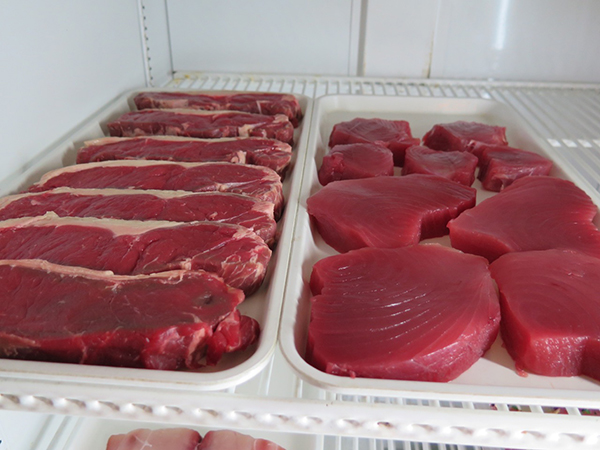 From the Sleeping Giant market side, chose your own cuts of hormone-free beef, thick fresh ahi, mahi and anything else brought in from the ocean that day.