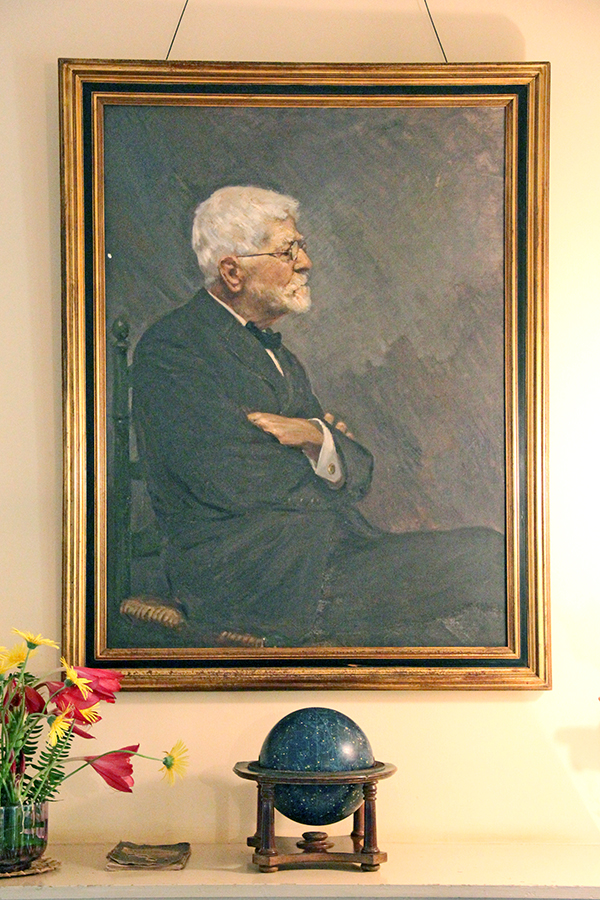 Painting of George Norton Wilcox at the Grove Farm Homestead Museum in Lihu'e.