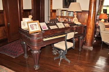 The 1861 piano at the Grove Farm Homestead Museum in Lihu'e.