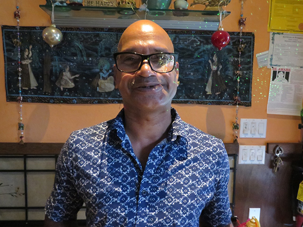 Sam Sudhakaran, manager, chef and everything else. He and his staff will bring a warm dining experience at Shivalik.