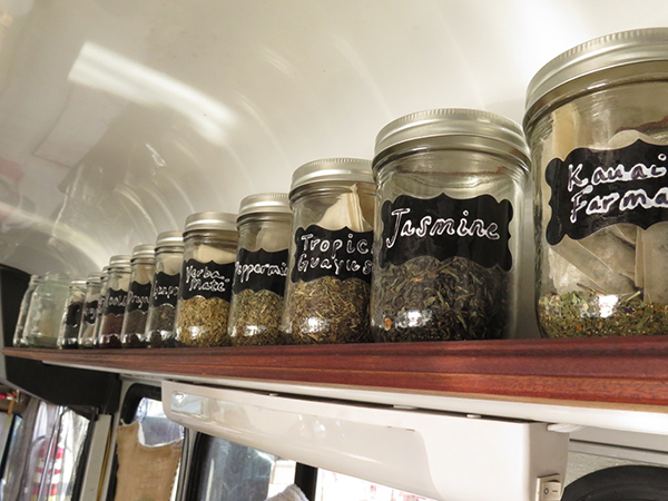 In addition to coffee, Small Town Coffee also serves a selection of fine organic teas, including the herbal blend from Kaua'i Farmacy.