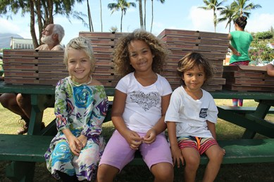 Left to right, Stella Nash, Mia Lani Locey and Kaweo Spiller-Reiff