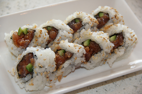 The Spicy Tuna Roll is a Kaua'i favorite. This one differs from other rolls; the spice rises while you eat it, the fish is very tender and the rice fluffy.