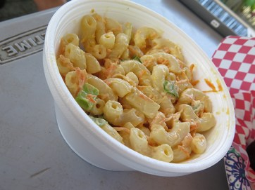 Substitute mac salad for chili or rice.