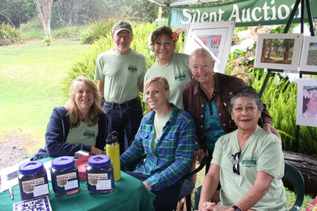 Back row, left to right, Bill Petersonn, Lorraine Wichman and Sharron Weber; front row, left to right, Sandy Howatt, Natalie Koziarski and Christine Matsumoto.