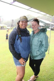 Kamaile Kapanui, left, and Candace McCallum