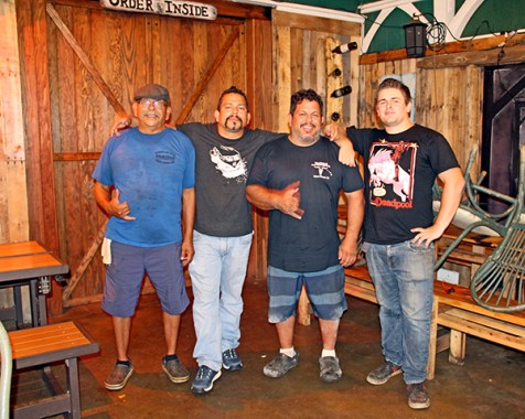 Native to Central California, the Diaz family puts all their aloha into Paniolo. They say Kaua'i has given them so much, and they want to give back a little flavor of home. The Diaz boys, left to right, Art Sr., Art Jr., Jared and Saxton