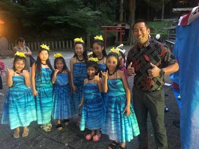 While in Yamaguchi, Gov. Tsugumasa Muraoka hosted a dinner for the Kaua'i delegation with other state officials. Contributed photo