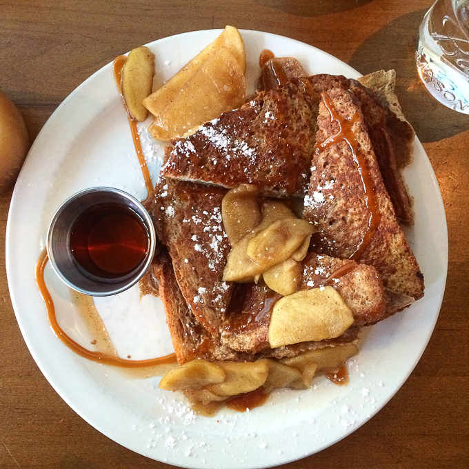 Over Easy Cafe French Toast -- Asheville Travel