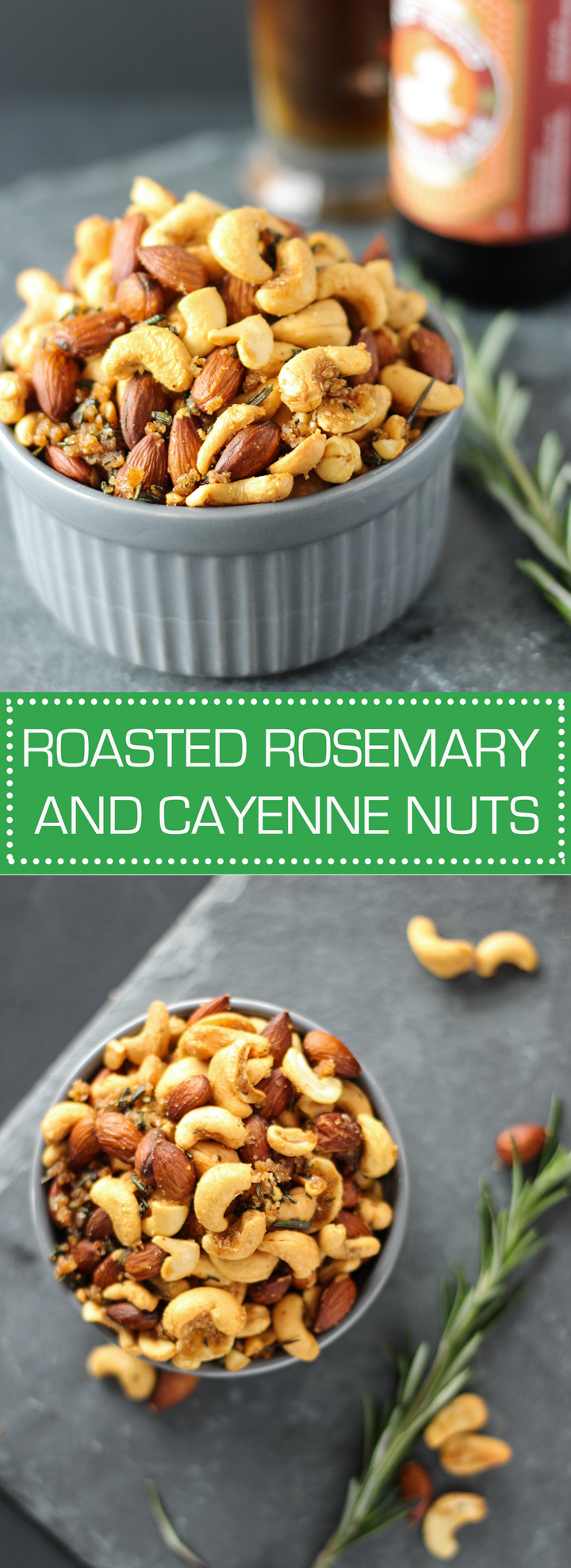 Roasted Rosemary and Cayenne Nuts - the perfect snack to have on Football Sunday!