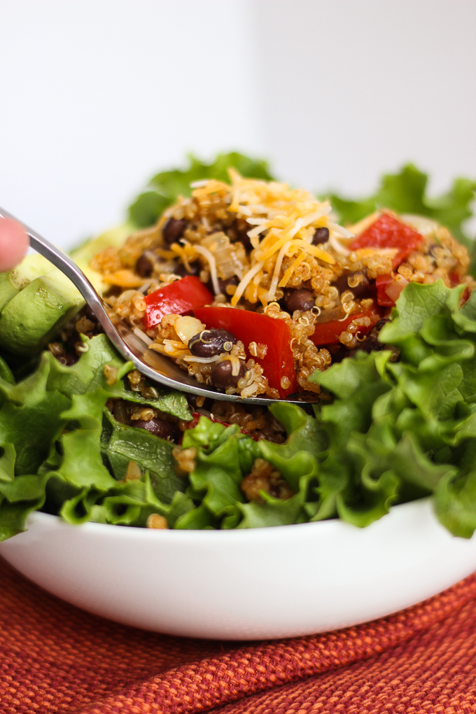 Quinoa Black Bean Burrito Bowl