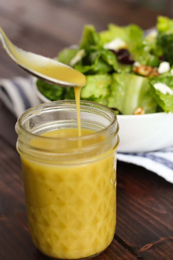 With just 4 ingredients, you'll have the perfectly tangy and sweet balance of homemade Honey Mustard Dressing!