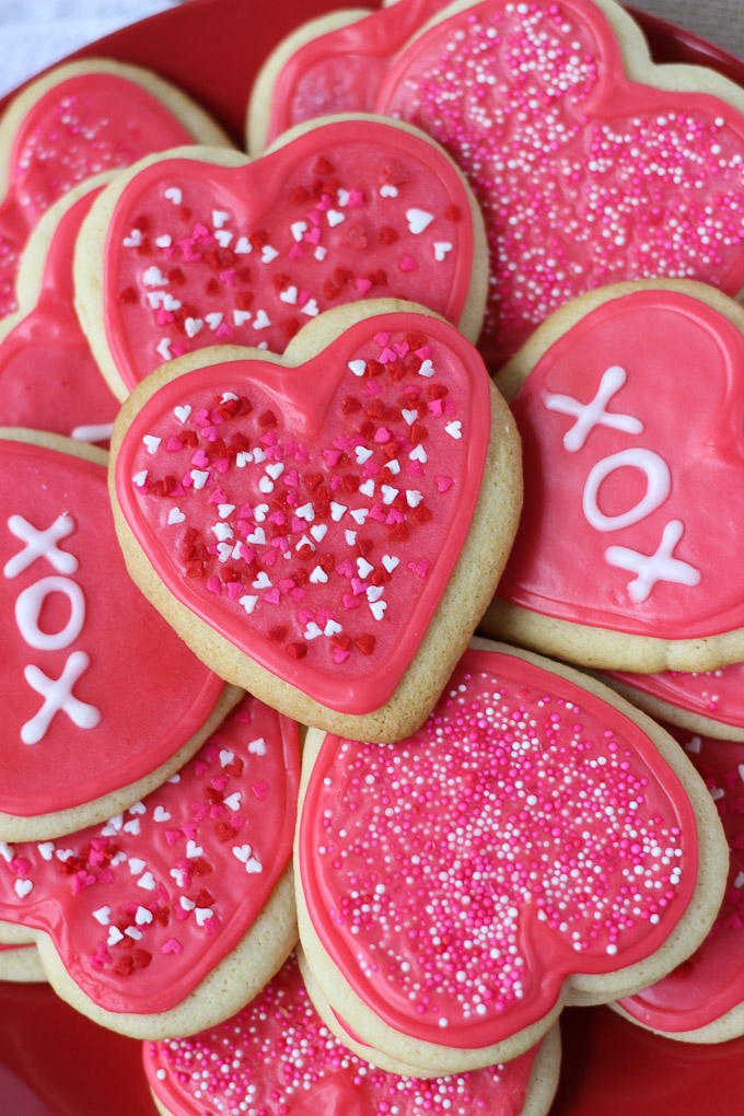 Valentine Cut-Out Sugar Cookies // Fork in the Kitchen