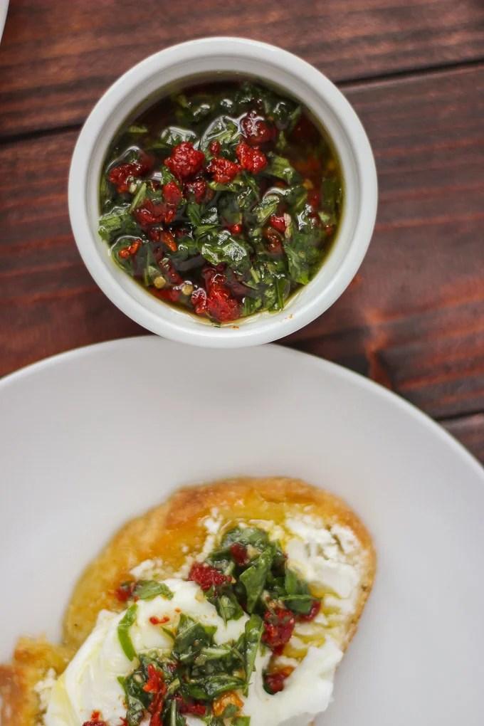 Basil and Sun-Dried Tomato Spread