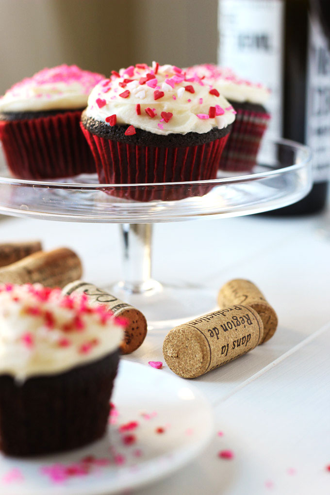 Red Wine Cupcakes // Fork in the Kitchen