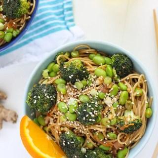 Broccoli and Orange Miso Pasta