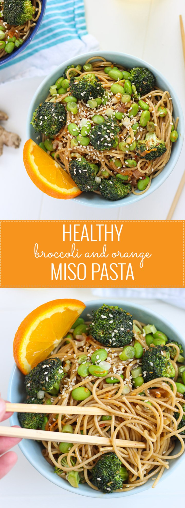 "Healthy Broccoli and Orange Miso Pasta - ready in under 30 minutes and will satisfy your ""take out"" craving!"