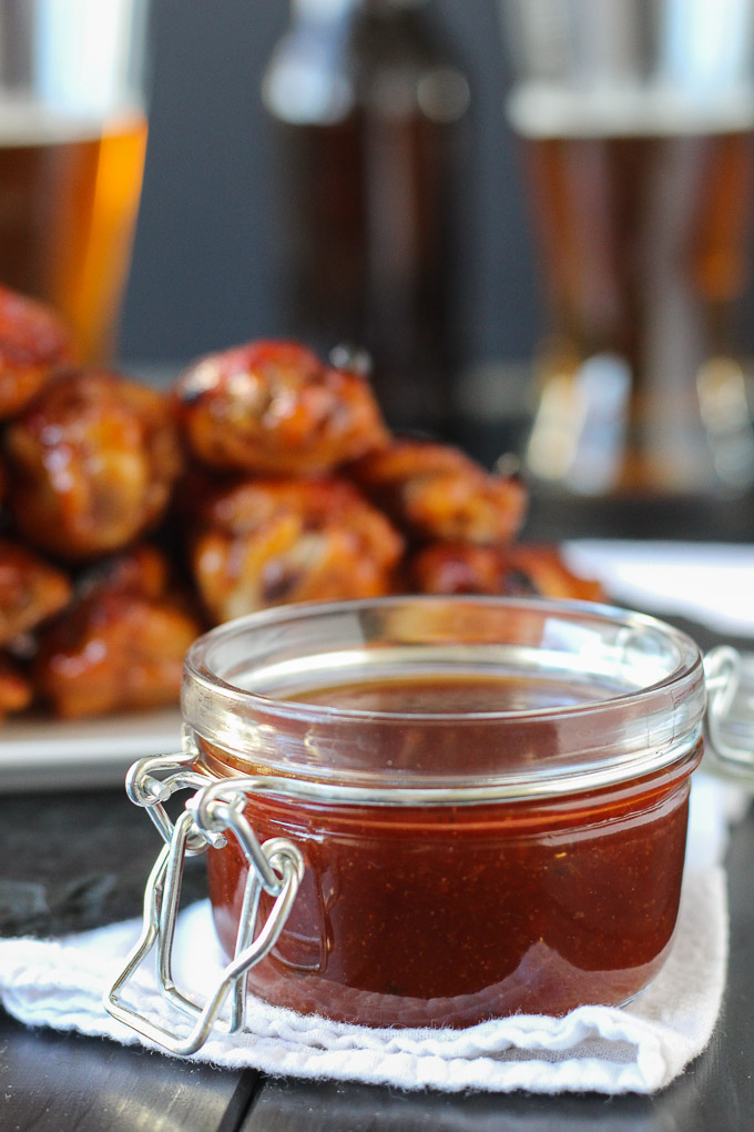 Bourbon BBQ Sauce // Bourbon Barbecue Sauce – a thick, smoky, sweet barbecue sauce featuring your favorite Bourbon; it's just what your grilling menu needs this summer!