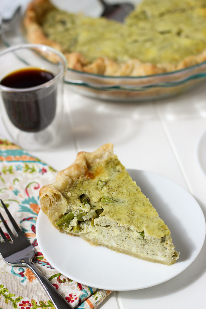 Ricotta, Asparagus, Pesto Quiche // Fork in the Kitchen