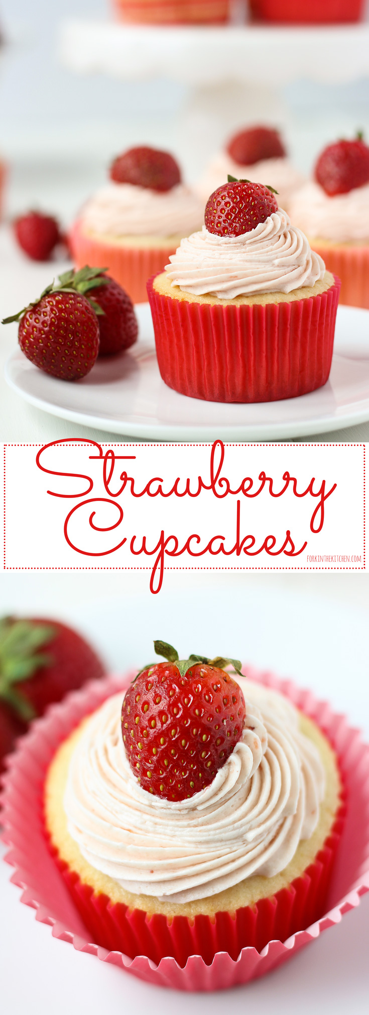 Strawberry Cupcakes // Fork in the Kitchen